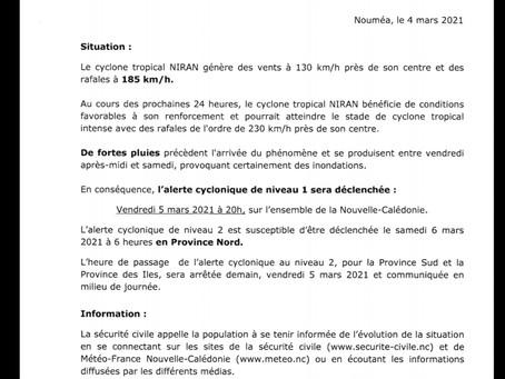 INFO CYCLONE - Communiqué n°2