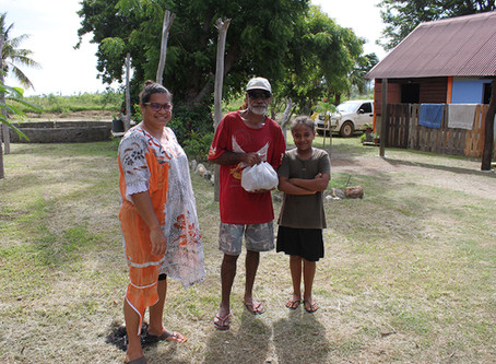 Distribution de poches de pomme de terre offert par la BANC