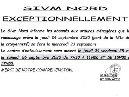 Communiqué SIVM NORD septembre 2020