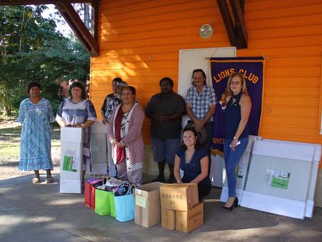 Le Lion's Club de Koumac contribue au développement de l'école de Wanap