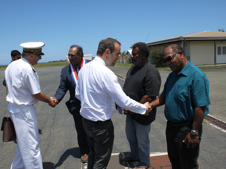 Visite du Ministre des Outre-mer à Koumac