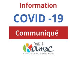 Communiqué n° 5 : Inscription à la vaccination à Koumac