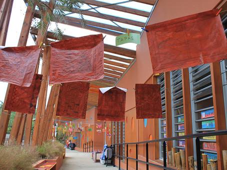 Les motifs envahissent l'espace à la Maternelle Bwadouvalan