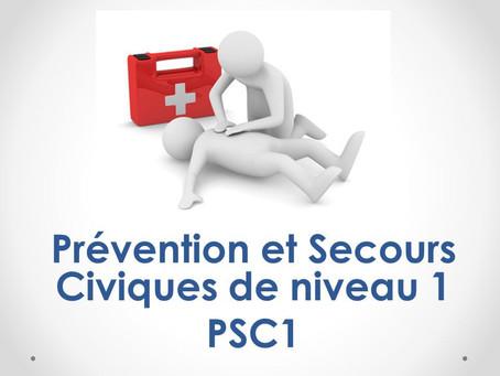 Une formation aux Premiers Secours Civique 1 (PSC1)