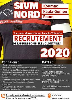 Affiche recrutement SPV SIVM NORD MARS 2