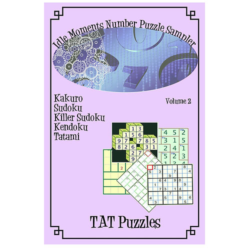 Idle Moments Number Puzzle Sampler - Vol 2