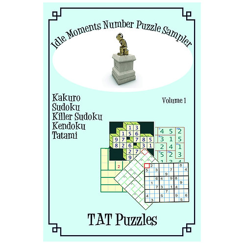 Idle Moments Number Puzzle Sampler - Vol 1