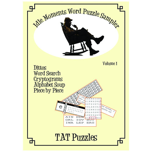 Idle Moments Word Puzzle Sampler - Vol 1