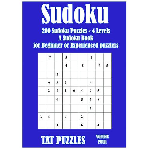 Sudoku - 200 puzzles - 4 levels - Vol 4