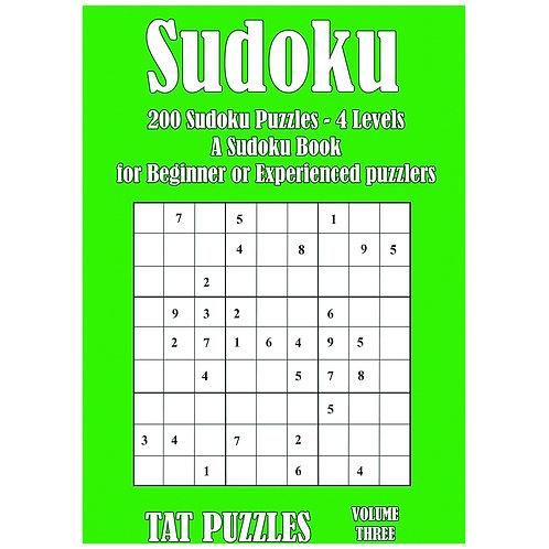 Sudoku - 200 puzzles - 4 levels - Vol 3