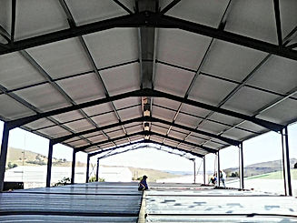 Iso board ceiling for factories