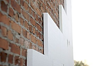 insulation of a brick wall with polyst