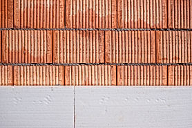 red brick wall during the works connecte