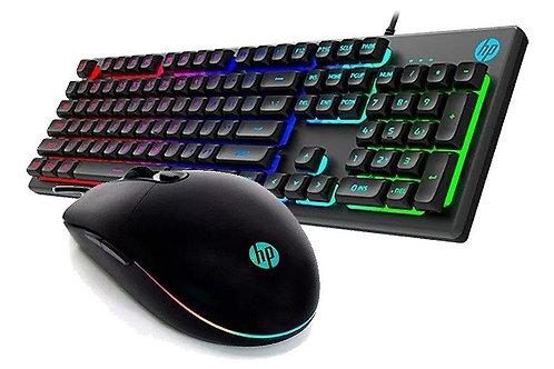 Kit teclado y mouse gamer HP KM300F
