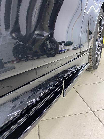 Передний клык на порог BMW G20