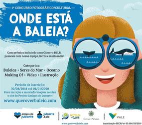 """INSCRIÇÕES ABERTAS - 1º Concurso Fotográfico/Cultural """"Onde Está a Baleia?"""""""