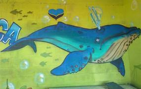 Grafite de Baleia chama atenção de Coordenador do Projeto Amigos da Jubarte