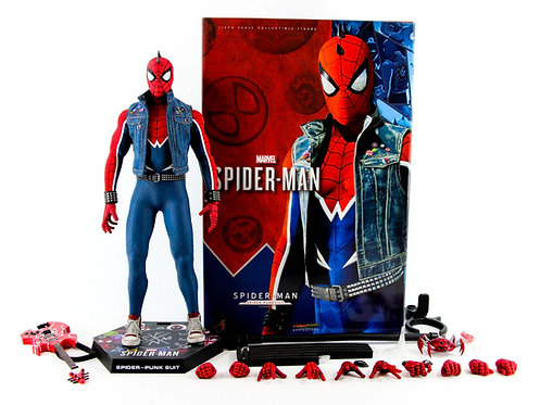 Hot Toys VGM32 Marvel's Spider-Man PS4 (Spider-Punk Suit) - Like New - CIB
