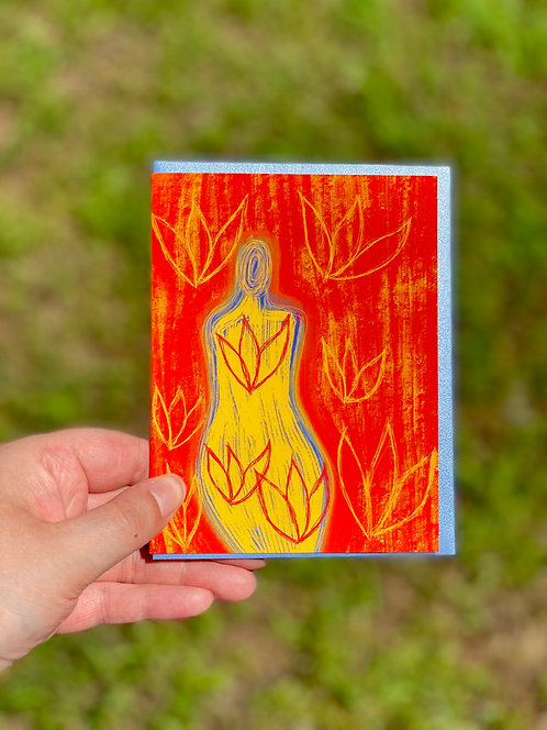 """We Bloom"" Greeting Card"