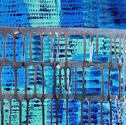 """Shades Of Blue"" Original Abstract Painting"