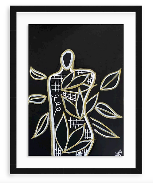 """""""Growth Came"""" Original Abstract Figurative Drawing"""