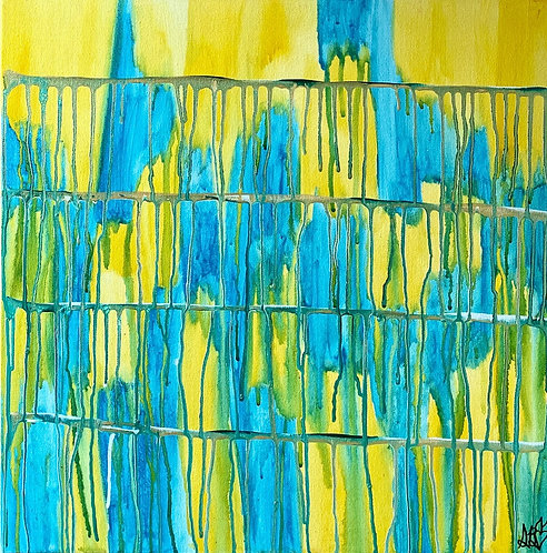 """Finding Balance"" Original Abstract Watercolor Painting"