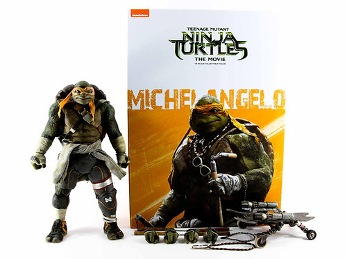 Threezero Teenage Mutant Ninja Turtles the Movie Michelangelo - Excellent - CIB