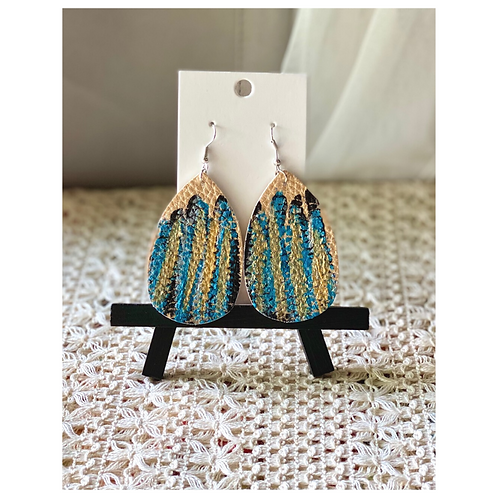 Abstract Hand-Painted Earrings