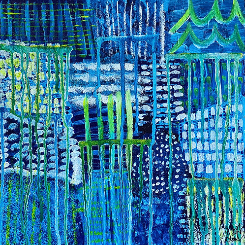 """""""Hurdles"""" Original Abstract Painting"""