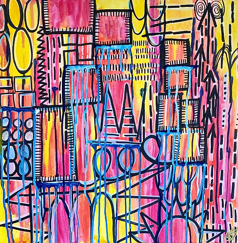 """""""Going Against The Odds"""" Original Abstract Painting"""