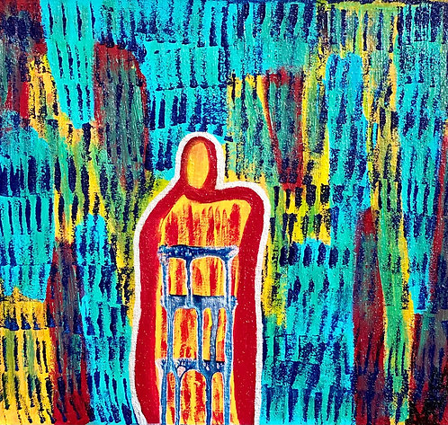 """""""Colorful Transformation"""" Original Abstract Figurative Painting"""