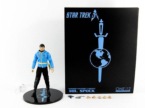 Mezco One:12 Collective Star Trek Mr Spock Mirror Universe - Excellent - CIB