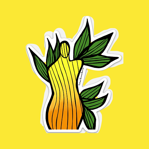 """""""Blooming In Spring"""" Sticker"""