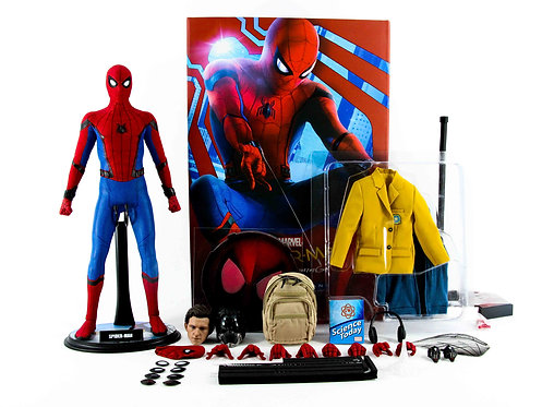 Hot Toys MMS426 Spider-man Homecoming Deluxe + Extra Stand - Excellent - CIB