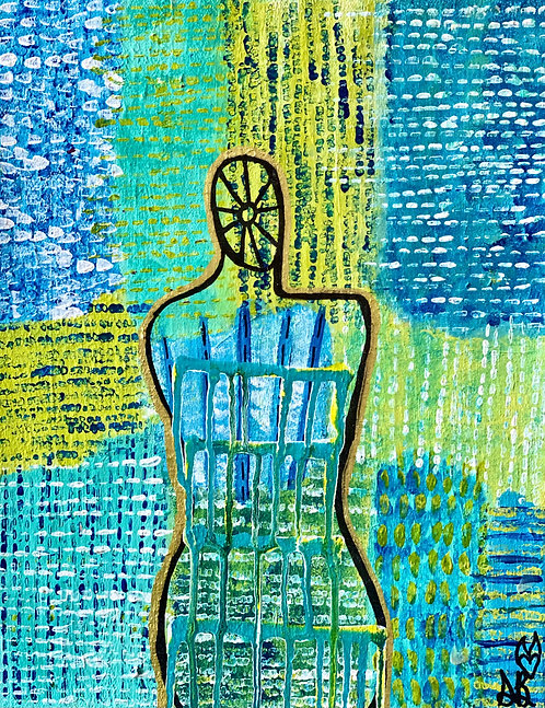 """""""Capability"""" Original Abstract Figurative Painting"""