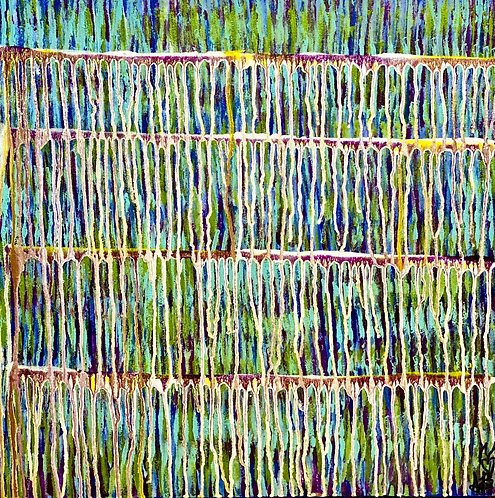 """""""Breathing Deep In Spring"""" Original Abstract Painting"""