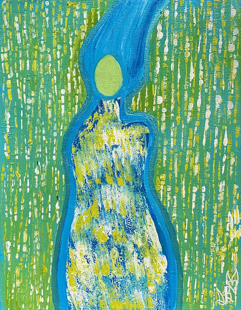 """""""Cleanse And Heal"""" Original Abstract Figurative Painting"""