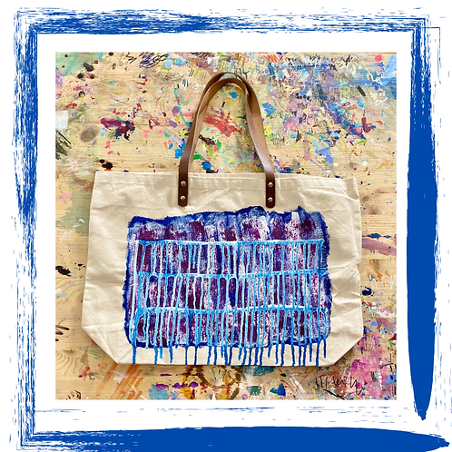 Abstract Hand-Painted Tote Bag