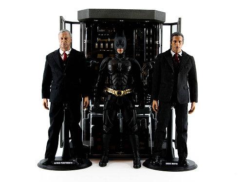 Hot Toys MMS236 The Dark Knight Batman Armoury Complete Set - Like New - CIB
