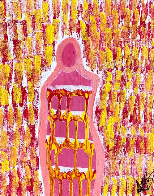 """""""The Best Version Of Me"""" Original Abstract Figurative Painting"""