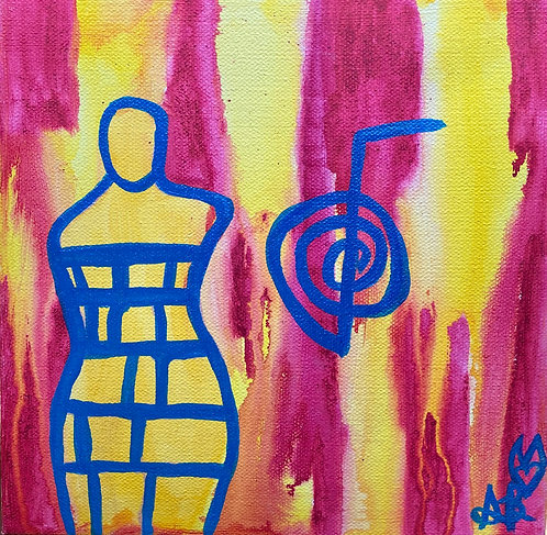 """""""Time To Heal"""" Original Abstract Figurative Painting"""