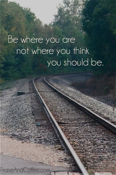 Be where you are copy