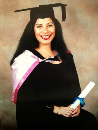 Master of Public Health graduation photo (7 months pregnant with Brown Bear)