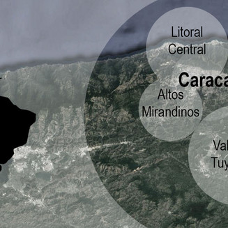 Desarrollo de la mancha urbana en la periferia de Caracas entre 2010 y 2016
