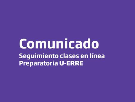 Comunicado seguimiento clases en línea