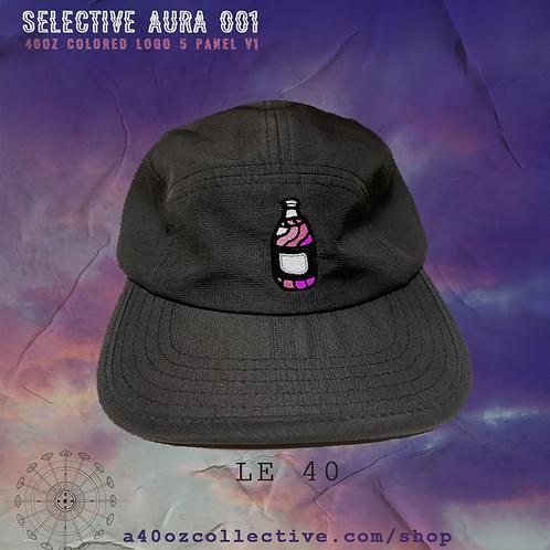 Selective Aura 001: 40oz Colored Logo BLACK 5 Panel