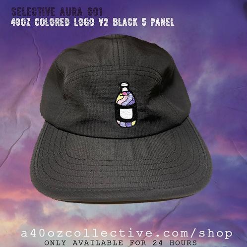 Selective Aura 001: 40oz Colored Logo V2 Black 5 Panel