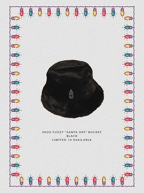 """40oz Fuzzy """"Santa Hat"""" BLK Bucket"""