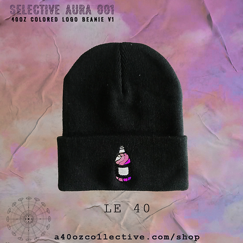 Selective Aura 001: 40oz Colored Logo BLACK Beanie