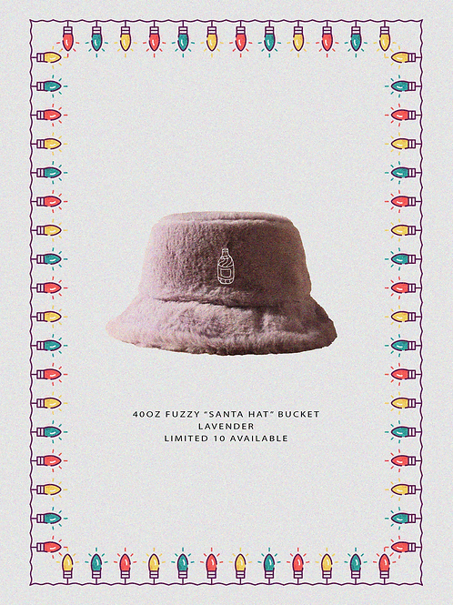 "40oz Fuzzy ""Santa Hat""  Lavender Buckets"